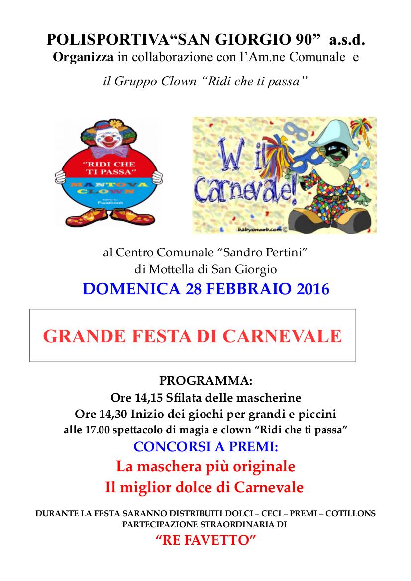 Carnevale 2016